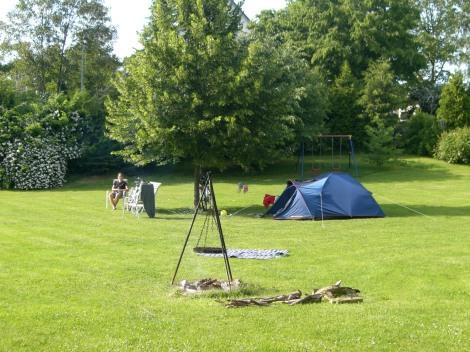 Campsite along Eurovelo 6